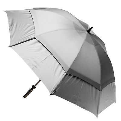 Clifton Extra Strength Vented Hurricane Golf Umbrella - Silver & Silver