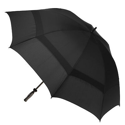 Clifton Extra Strength Vented Hurricane Golf Umbrella - Solid Black