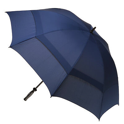 Clifton Extra Strength Vented Hurricane Golf Umbrella - Solid Navy