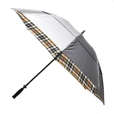 Clifton Windpro Vented Silver Coated Golf Umbrella - Camel Thomson Tartan