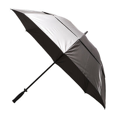 Clifton Windpro Vented Silver Coated Golf Umbrella - Black Under
