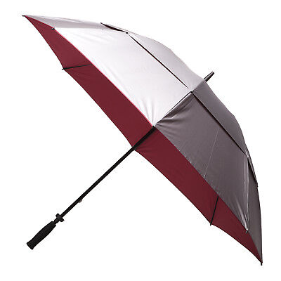 Clifton Windpro Vented Silver Coated Golf Umbrella - Burgundy Under