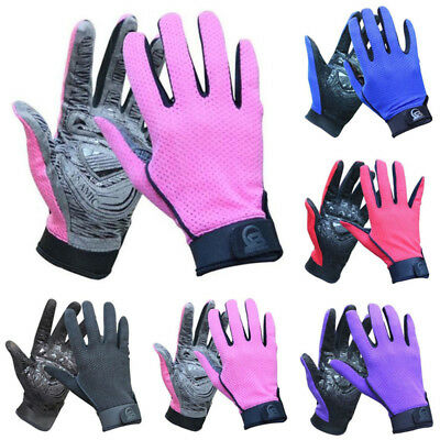 Unisex Breathable Full Finger Gloves for Outdoor Bicycle Cycling Summer S M L XL