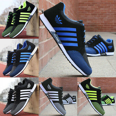 UK Mens Trainers Running Gym Fitness Shoes Mesh Sneakers Lace Up Breathable Size