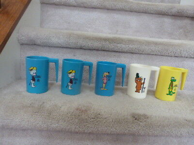 5 VINTAGE Walt Kelly POGO Possum Porky Pine Albert Alligator Comic Mugs 4""