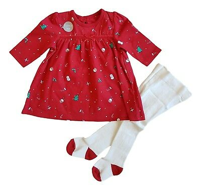 Baby Girls Christmas Xmas Santa Claus Dress Tights Outfit Costume Holiday Gift