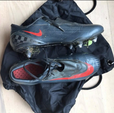 new style c7e41 337d7 Nike Mercurial Vapor IV SL SG Charcoal Red