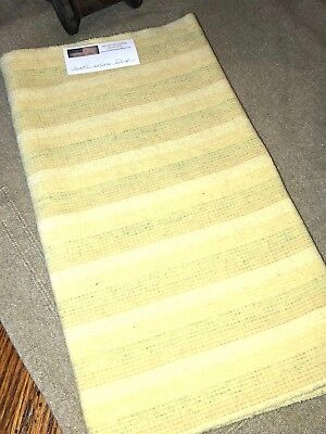 1/4 Yd 100% Wool For Rug Hooking Or Wool Applique ~ Soft Yellow Stripe