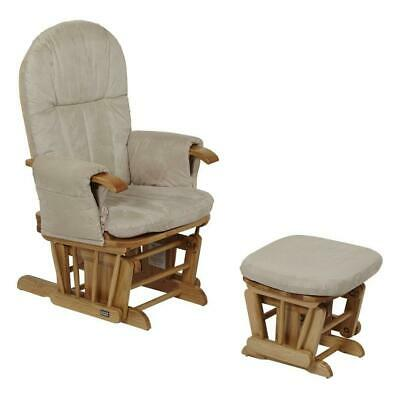 Tutti Bambini GC35 Glider Chair & Stool (Natural) Nursing Chair