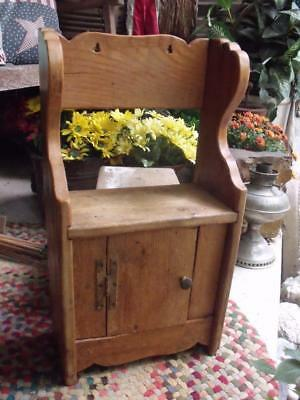 Small Old Rustic Primitive Vintage Pine Cabinet Spice Cabinet Wall or Self Stand
