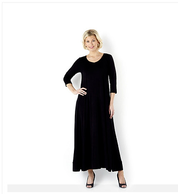 Join Clothes Jersey V Neck Maxi Dress with Full Hem Black Size Small rrp £114