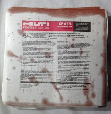 Lot of 12 Hilti CP 617L Firestop Putty Tile Pads Fire Barrier Protection - New