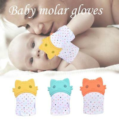UK Silicone Baby Mitts Teething Mitten Teething Glove Candy Wrapper Soft Teether