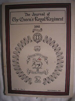 Queen's Royal Regiment Journal 1934 Surrey PWRR British Army History India