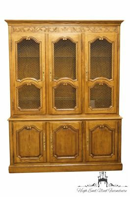 "BAKER FURNITURE Solid Oak Louis XVI Country French 65"" China Cabinet"