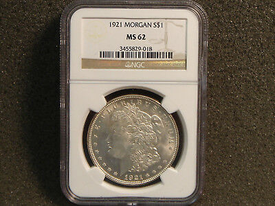 1921 Morgan Silver Dollar NGC MS62