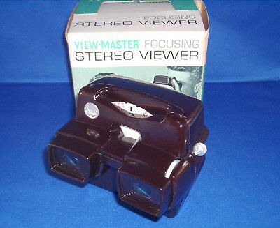 View-Master RESTORED Brown Model D Focusing LED Lighted Viewer MINT Condition