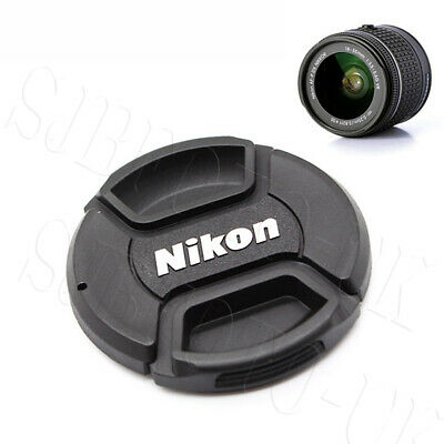 2 Pcs 55MM CENTER CENTRE-PINCH CLIP-ON FRONT LENS CAP COVER FOR NIKON LC-55