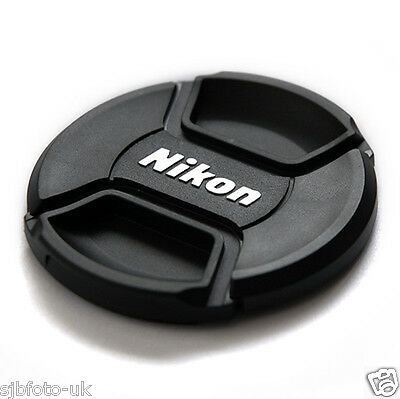 2 Pcs 58MM CENTER CENTRE-PINCH CLIP-ON FRONT LENS CAP COVER FOR NIKON  LC-58