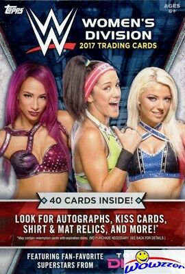2017 Topps WWE Womens Division HUGE EXCLUSIVE Factory Sealed Hanger Box-40 Cards