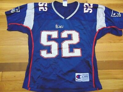 b745fe4818b Vintage Champion Nfl New England Patriots Ted Johnson Jersey Size Youth L
