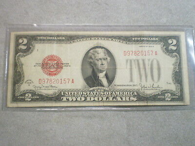 1928-G $2 United States Note/ Folds, Stain