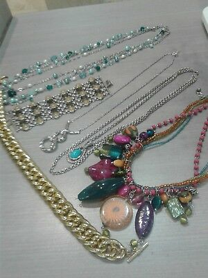 Jewelry lot, signed. 16 necklaces, 1 bracelet, FOSSIL, LIA SOPHIA, BANANA REPUBL