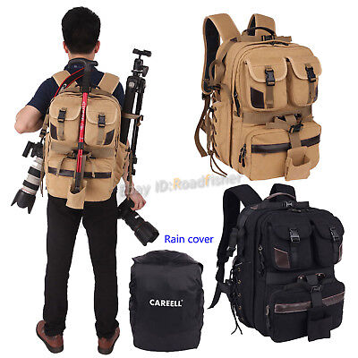 Professional DSLR SLR Camera Bag Lens Padded Travel Bag Backpack Rucksack Pouch