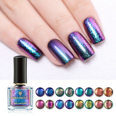 BORN PRETTY 6ml Magic Nail Polish Shining Glitter Sequins Nail Art Varnish Decor