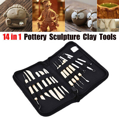 14Pcs/Set Pottery Clay Sculpture Sculpting Carving Modelling Ceramic Hobby Tool