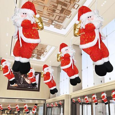 Hanging Rope Climbing Santa Claus Dolls Ceiling Decoration Christmas Home Decors