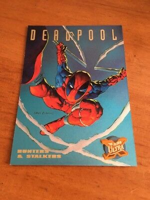 Deadpool 1995 Fleer Ultra X-Men Hunters & Stalkers Foil Insert Chase 3 of 9