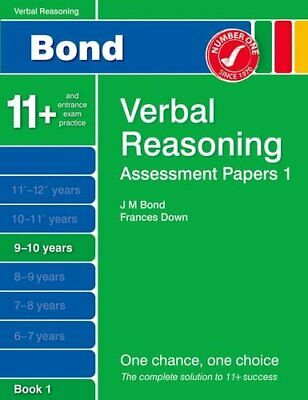 Bond Assessment Papers Verbal Reasoning 9-10 yrs Book 1 by Down, Frances Book