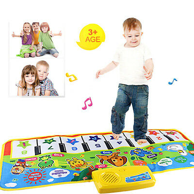 Touch Play Keyboard Musical Music Singing Gym Carpet Mat For Kids Baby Best Gift