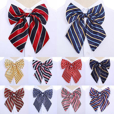Women Lady Girl Fashion Style Big Bow Knot Neck Tie Cravat Casual Party Banquet