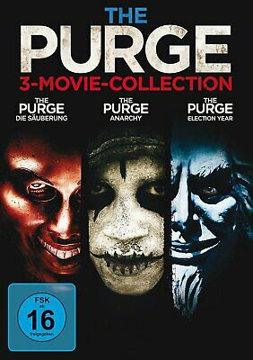 The Purge 1+2+3 / 3-Movie-Collection # 3-DVD-NEU