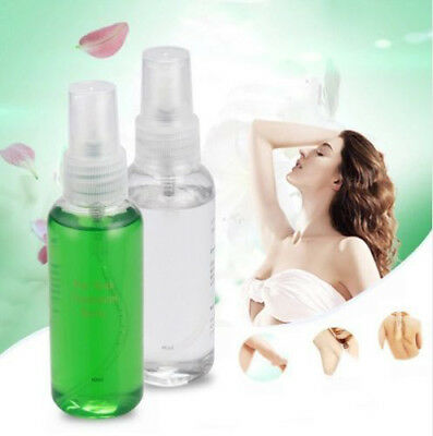 2pcs 60ml/bottle Smooth Body Hair Removal Liquid Pre&After Wax Treatment Best