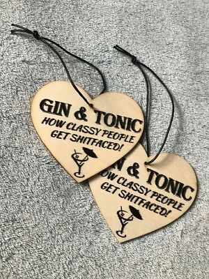Gin and Tonic Wooden Hangings - Free shipping