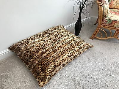 Beanbag Floor Cushion Filled Cheetah Faux Fur Large 3cf Size Luxurious