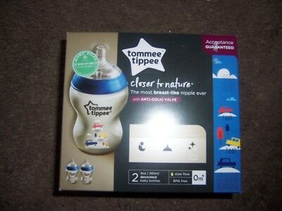 New tommee tippee closer to nature anti colic valve new blue