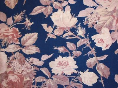 NEW AUTUMN STOCK: BEAUTIFUL 19th CENTURY FRENCH LINEN COTTON, ROSES c1870 254.