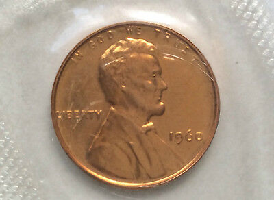 1960-P Lincoln Cent Small Date Proof Penny Uncirculated U.S. Coin D9552