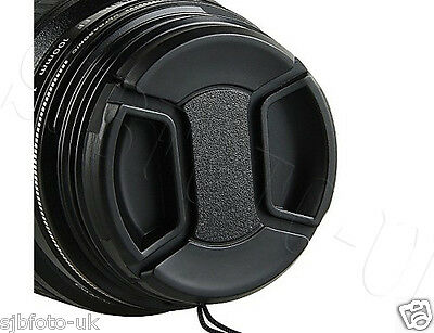 2 Pcs 40.5 MM GENERIC CENTRE-PINCH CLIP-ON FRONT LENS CAP FOR SONY NIKON