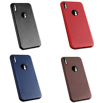 Luxury Back Thin Slim Soft Skin Case Cover For Apple Iphone X 5S 7Plus Leather