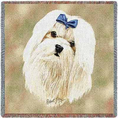 Lap Square Blanket - Maltese by Robert May 1167