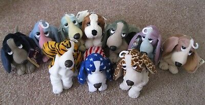 Hush Puppies Basset Hound Dog Lot Of 10 Plush Stuffed Animal