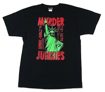 Murder Junkies Liberty Black T Shirt New Official Band Merch GG Allin