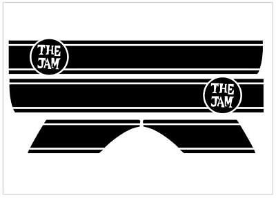 The Jam VESPA Side Panels Sticker Set for Vespa PX & LML Side Panels & Mudguard