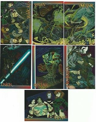 1993 Wizard Series 3 Chromium Promo Cards !! Lot Of 7 !! Cards 1 - 7 !!