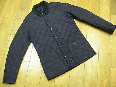 Barbour Heritage Liddesdale Quilted Jacket Size:small Colour:navy Blue